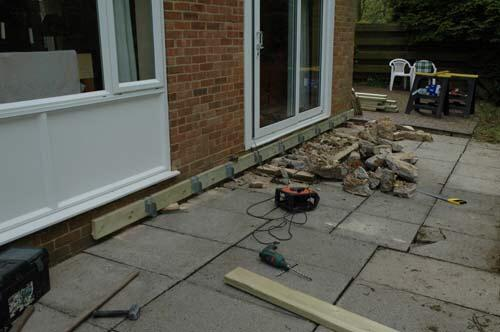 decking over uneven and split level