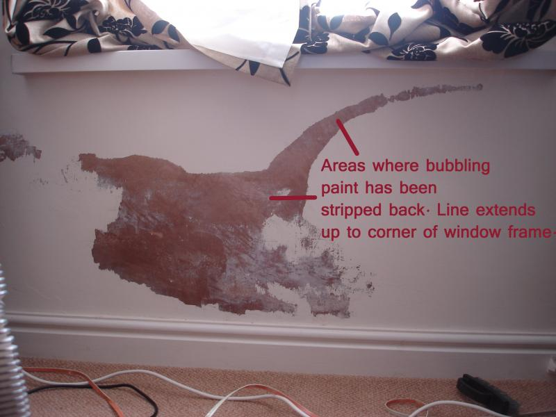 Bubbling paint due to reoccurring damp problem what cause  DIYnot Forums