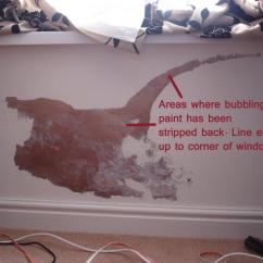 Kitchen Signs For Home Small Tables Ikea Bubbling Paint Due To Reoccurring Damp Problem, What Cause ...