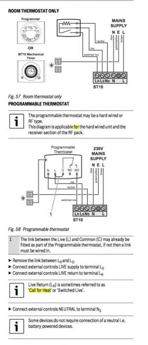 Worcester Bosch 24i Thermostat wiring diagram | DIYnot Forums