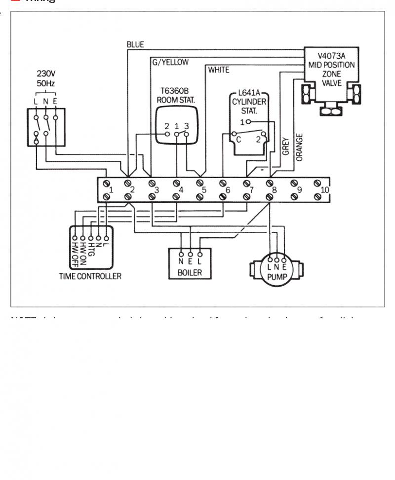 wiring diagram y plan central heating system