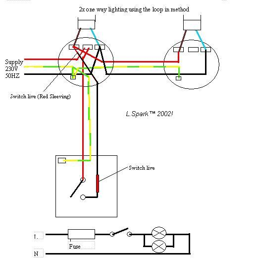 Electrics:Single way lighting