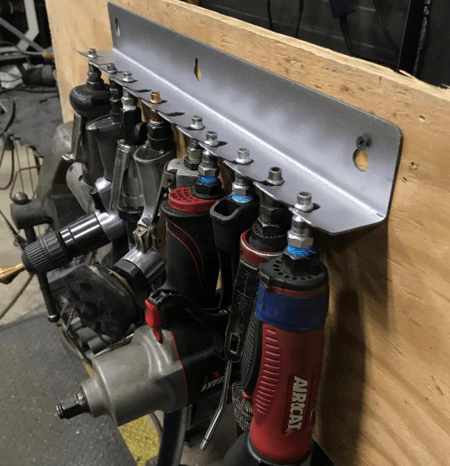 deuling design 12 position air tool rack