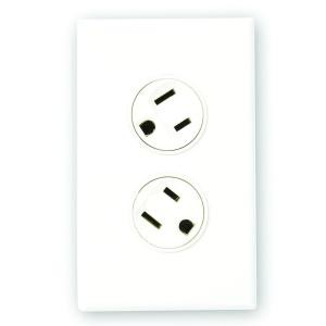 360 Electrical 36010-W Duplex Outlet, 15A Rotating Duplex