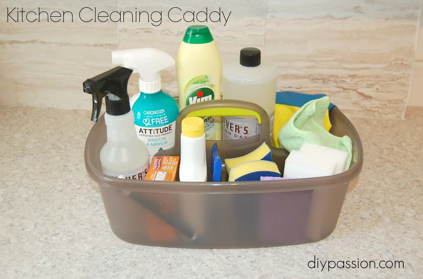 How To Stock And Organize A Cleaning Caddy