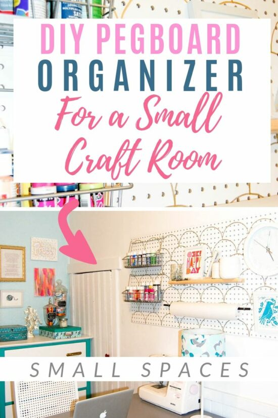 Diy Pegboard Organizer For A Small Craft Room Diy Passion