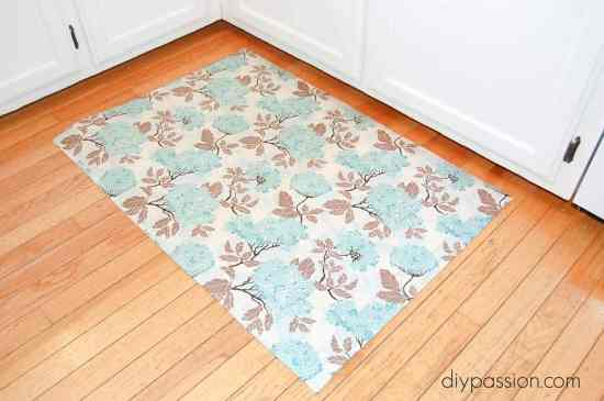 Make your own Fabric Kitchen Floor Mat