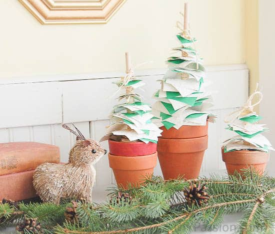 Cute Potted Paper Christmas Trees