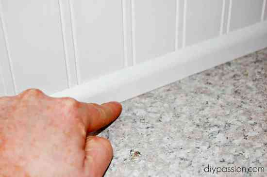 How to seal a beadboard backsplash