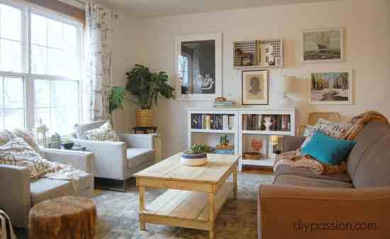 Winter White Living Room Tour