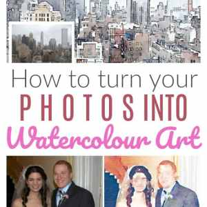 How to turn your photos into watercolour art