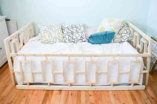 Assemble the day bed in the room