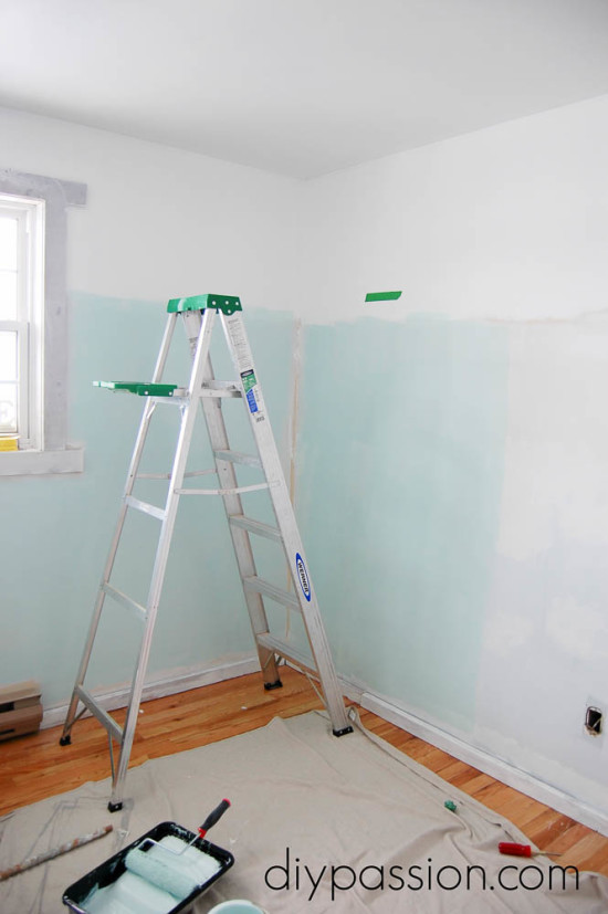 Painting two-thirds wall