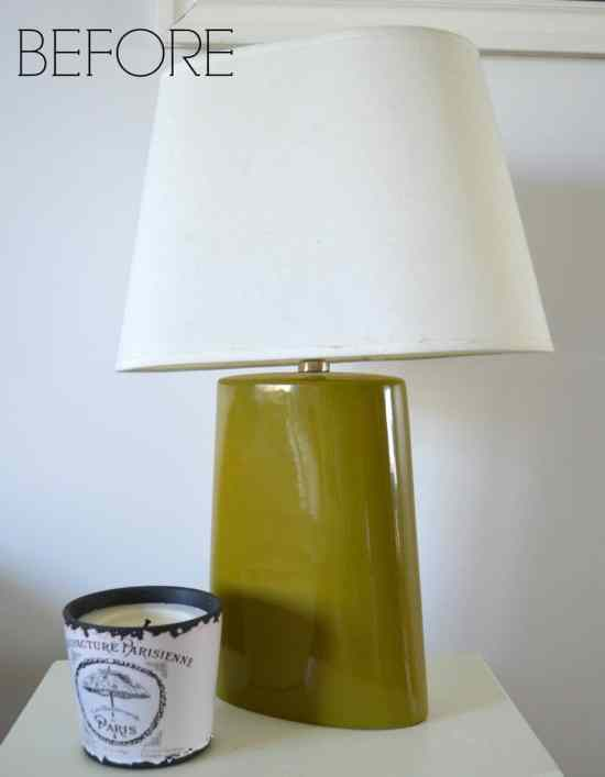 Yard sale lamps BEFORE a makeover with spray paint