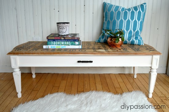 DIY Typography Table with a Silhouette Cameo