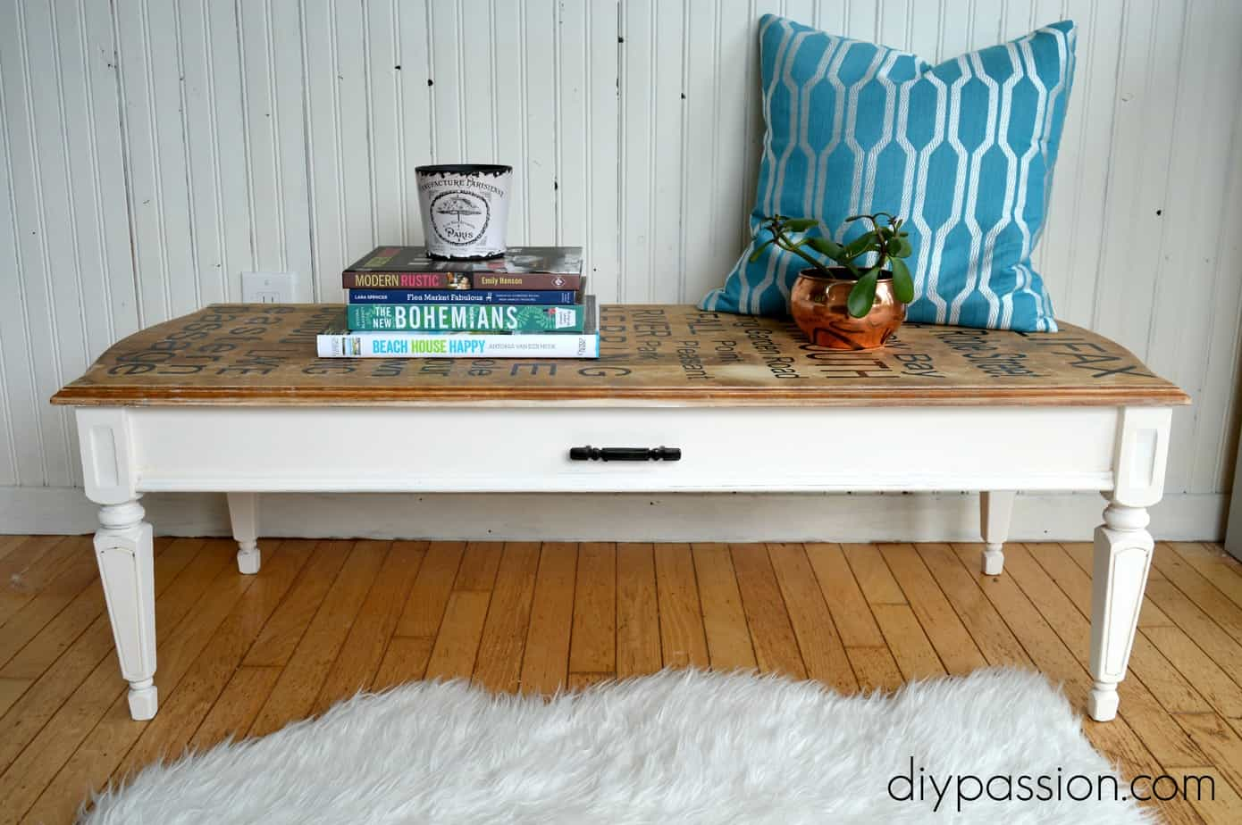 make your own typography table full tutorial diy passion