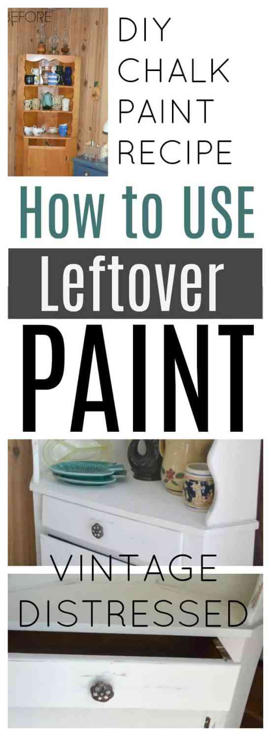 DIY Chalk Paint Recipe - How to Use Leftover Paint