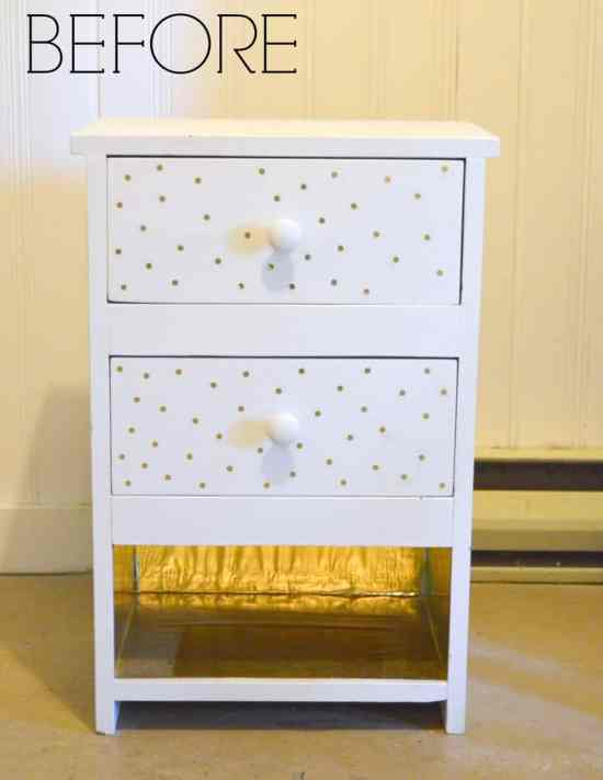 Painted Side Tables Before 2