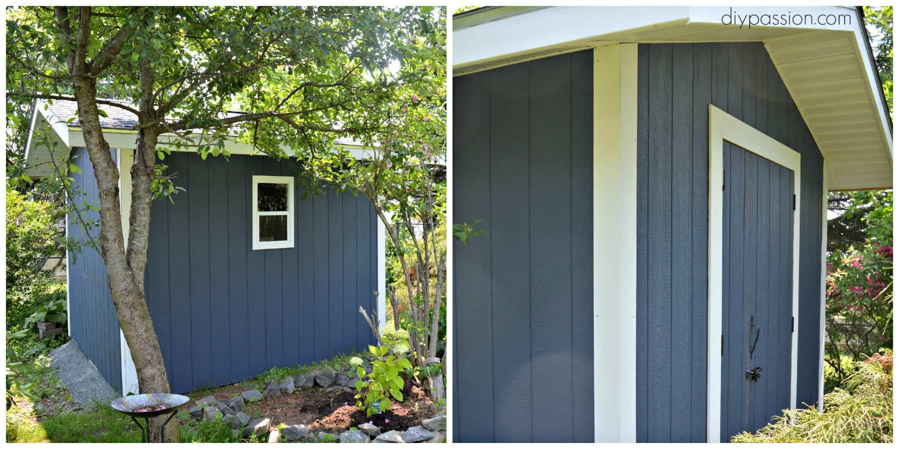 how to paint your shed the right way diy passion. Black Bedroom Furniture Sets. Home Design Ideas