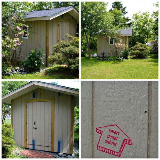 how to paint a shed - before