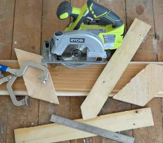 DIY Scrap Wood Sign Starting Supplies
