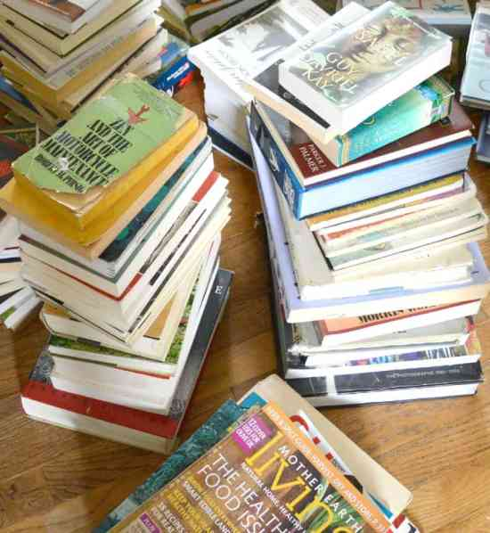 Decluttering Books with KonMari - Start by making piles