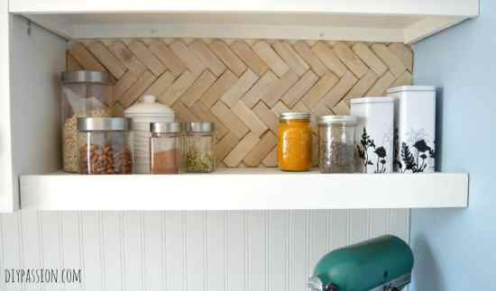 How to make a Herringbone Back Splash FINISHED