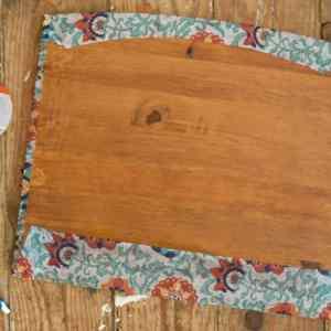 Patterned Wood Shelf Back side