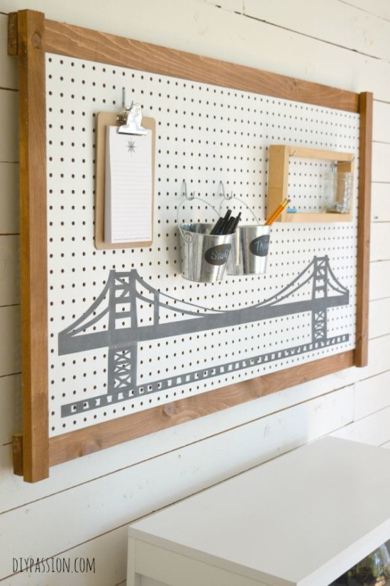 Peg Board Bridge Side View