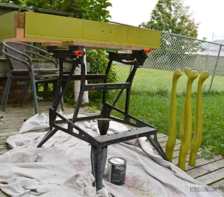 Console Table Painted with Avocado Shake