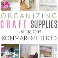 organizing craft supplies