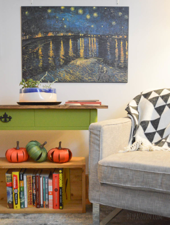 Switch out Living Room Art for Fall Decor