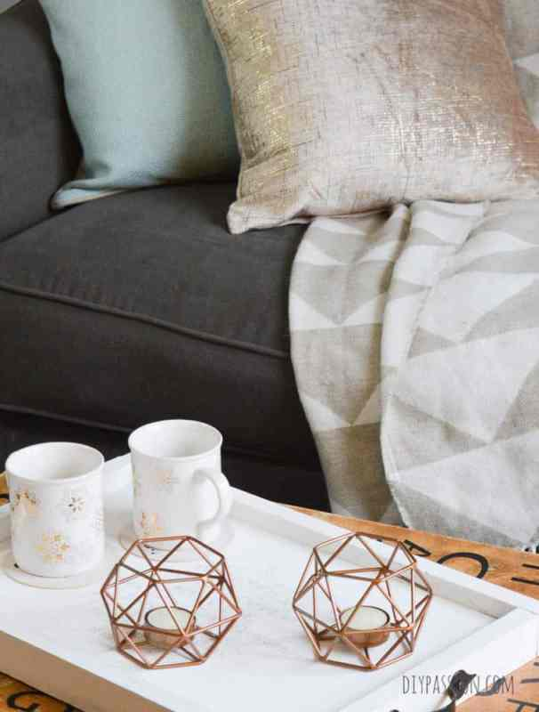 Gorgeous Copper Geometric Tea Light Holders