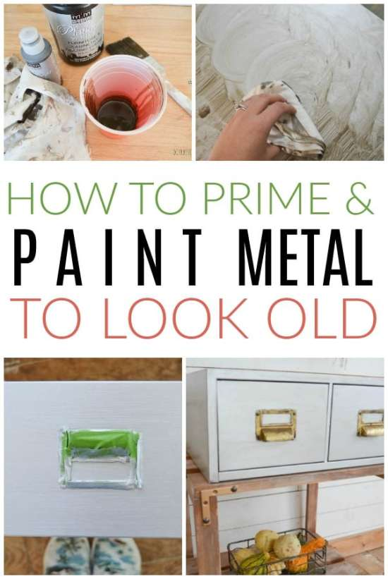 how to make paint look weathered on metal