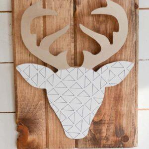 DIY Geometric Deer Head Wall Art