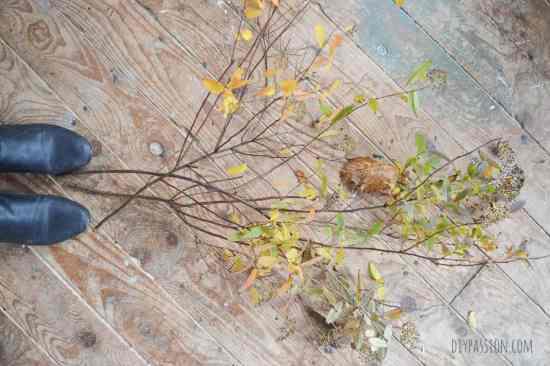 DIY Twig Advent Calendar BEFORE