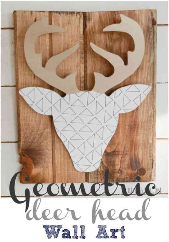Quick Easy Diy Wall Art : Make your own quick easy diy geometric deer head wall