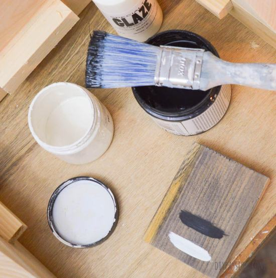 How to grey wash with black and white paint