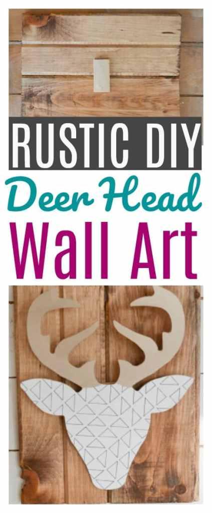 How to make a Rustic DIY Deer Head Wall Art