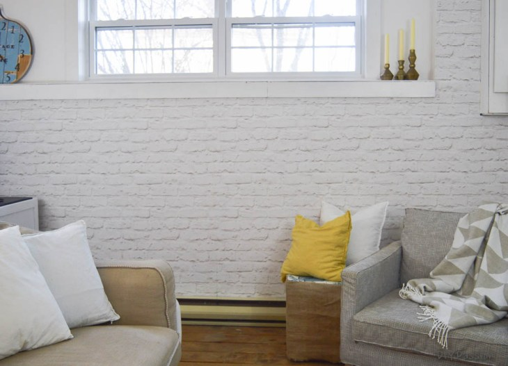 How To Brick An Interior Wall In One Day Diy Passion