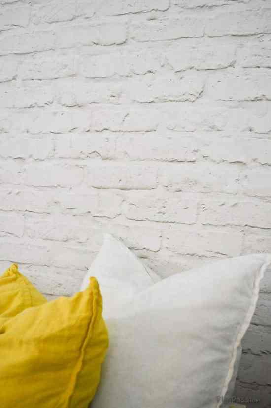 Faux Brick Wall Close Up
