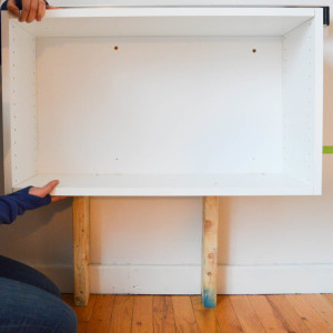 How to hang a fauxdenza using kitchen cabinets