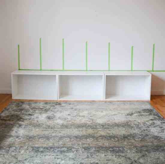 How to hang a DIY wall storage unit with stock cabinets