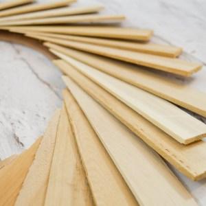 Glue the wood shims with hot glue