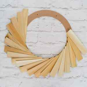 How to make a wood shim wreath