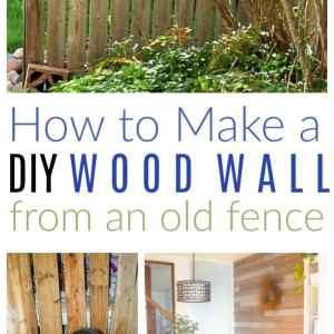 diy wood wall old fence