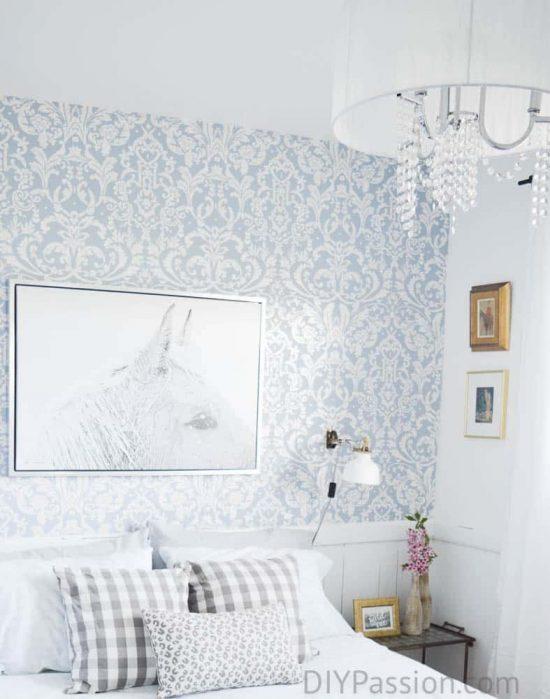 Crystal Chandelier in Guest Bedroom