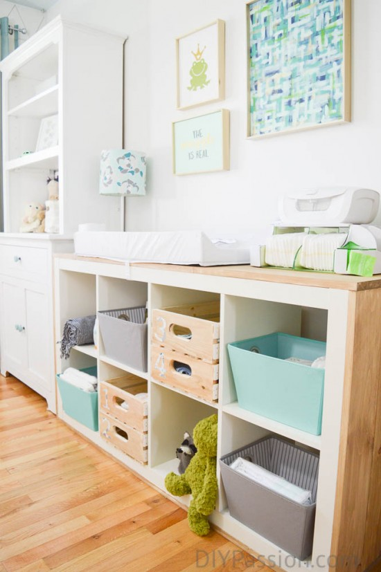 How to organize a nursery and repurpose old furniture Repurpose ikea furniture