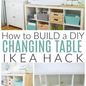 diy changing table ikea hack