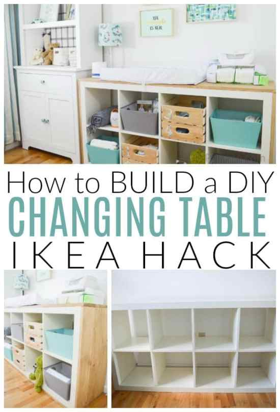 How To Make A Diy Changing Table With An Ikea Hack